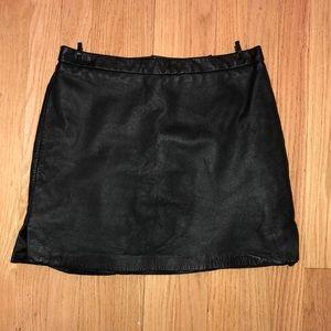 Black BCBG leather skirt size 8